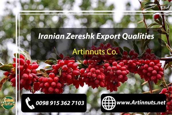 Zereshk Export Qualities