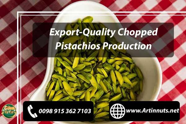 Chopped Pistachios Production