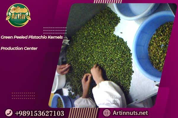 Green Peeled Pistachio Kernels