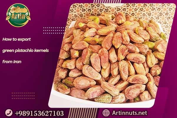 export green pistachio kernels