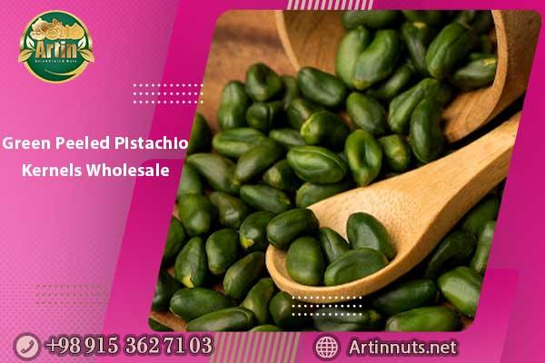Green Peeled Pistachio Kernels Wholesale