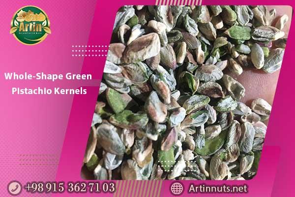 Whole-Shape Green Pistachio Kernels
