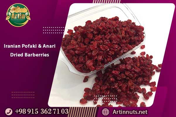 Iranian Pofaki and Anari Dried Barberries