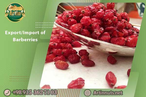 Export/Import of Barberries