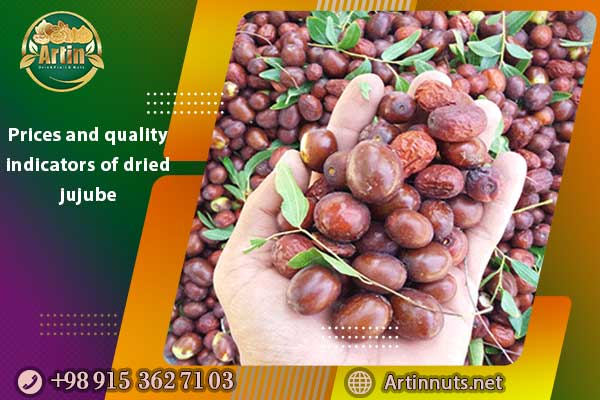 Prices and quality indicators of dried jujube