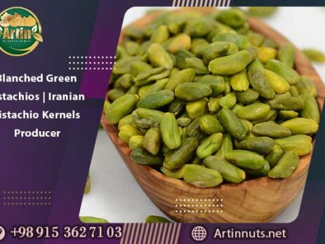 Blanched Green Pistachios | Iranian Pistachio Kernels Producer