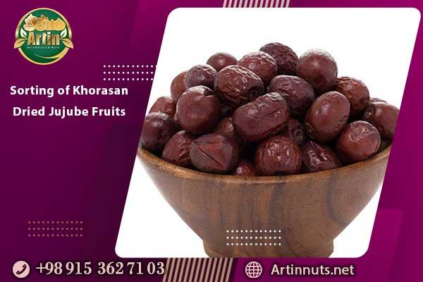 Sorting of Khorasan Dried Jujube Fruits