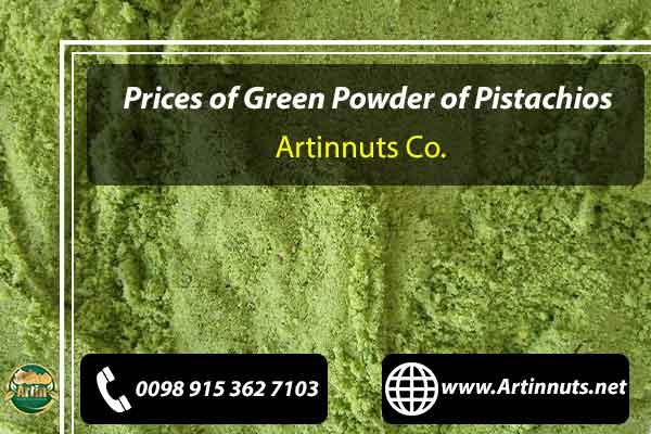 Green Powder of Pistachios