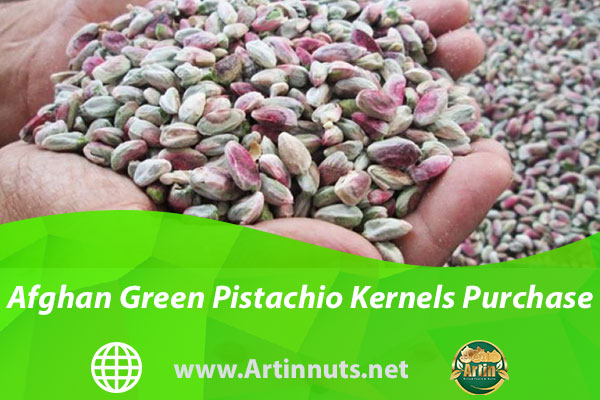 Afghan Green Pistachio Kernels Purchase