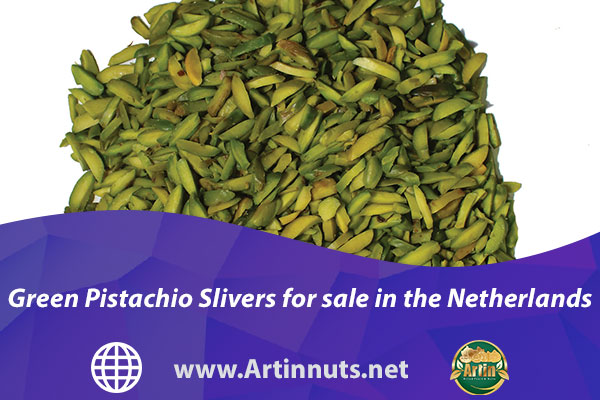 Green Pistachio Slivers for sale in the Netherlands