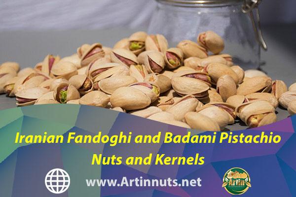 Iranian Fandoghi and Badami Pistachio Nuts and Kernels