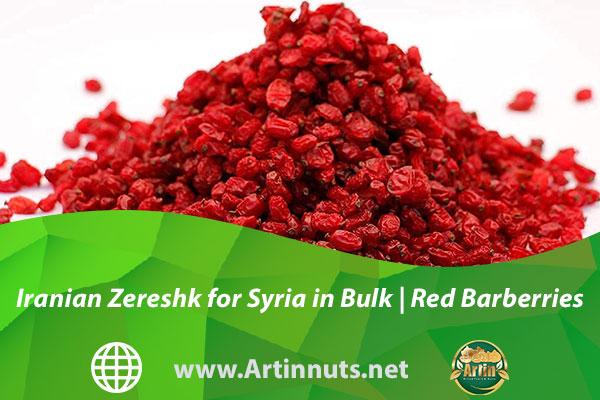 Iranian Zereshk for Syria in Bulk   Red Barberries