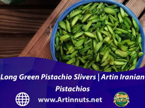 Long Green Pistachio Slivers | Artin Iranian Pistachios