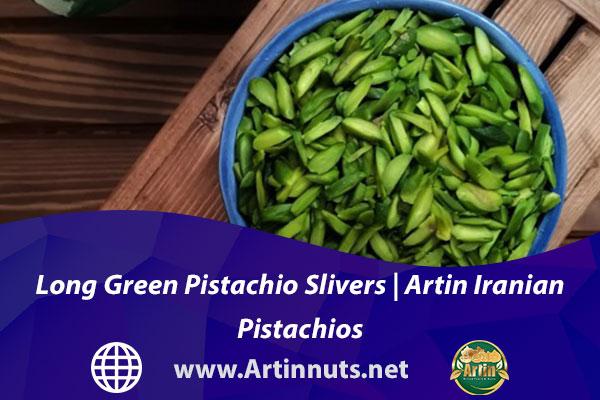 Long Green Pistachio Slivers   Artin Iranian Pistachios
