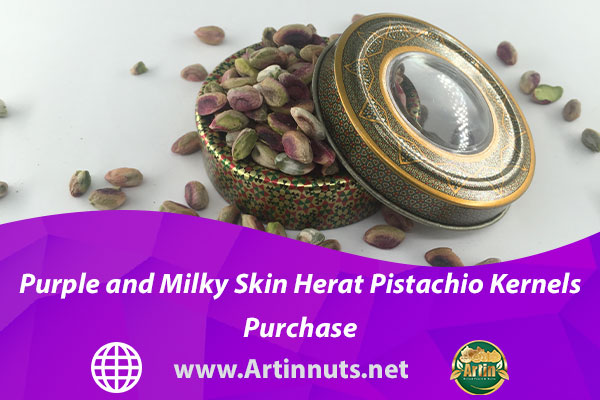 Purple and Milky Skin Herat Pistachio Kernels Purchase
