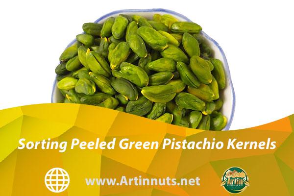 Sorting Peeled Green Pistachio Kernels